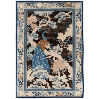 Apadana-Chinese Peacock Rug - 6′2″ × 8′9″ For Sale