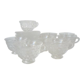 1950s American Fostoria Cups & Saucers - Set of 8 For Sale