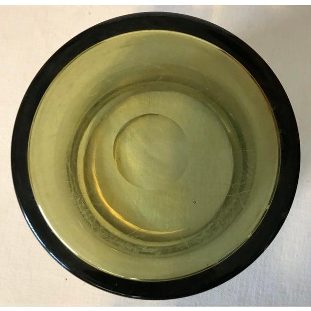 Artist - Per Lutken Maker - Holmegaard Signed - Etched on Base - Holmegaard 1959 PL Year - 1959 Medium - Light Olive Green...