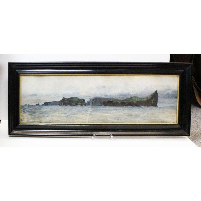 Blue Zeno Diemer Harbor Scene Painting For Sale - Image 8 of 8