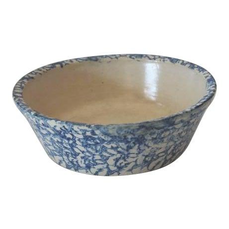 19th Century Spongeware Serving Bowl For Sale