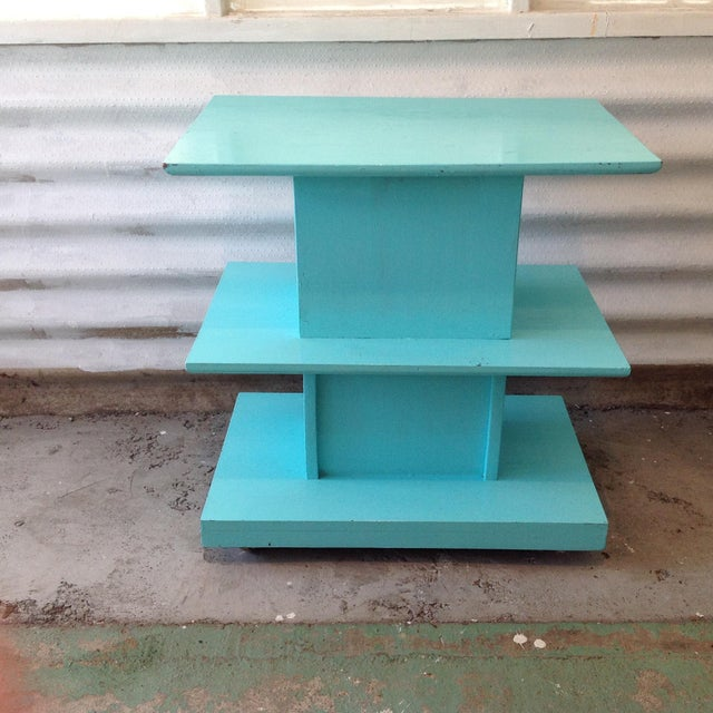 Mid-Century High Gloss Chalk Painted Cart - Image 4 of 11