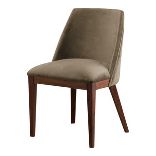 Ebb and Flow Olive Velvet Nola Dining Chair For Sale