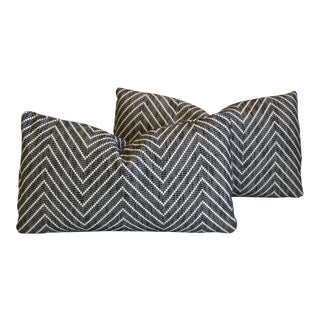 """Midcentury Alexander Girard Abstract Feather/Down Pillows 21"""" X 13"""" - Pair For Sale"""