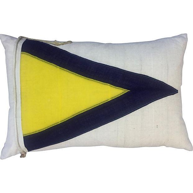 British Nautical Flag Pillow - Image 1 of 4