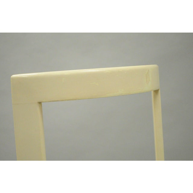Vintage Thonet Style Italian Mid-Century Modern Round White Cane Seat Side Chair - Image 7 of 10