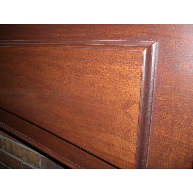 Modern Solid Cherry Fireplace Mantle Arched For Sale - Image 10 of 12