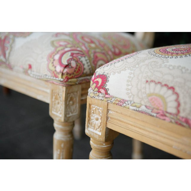 Louis XVI Style Paisley Side Chairs - a Pair For Sale In Los Angeles - Image 6 of 7