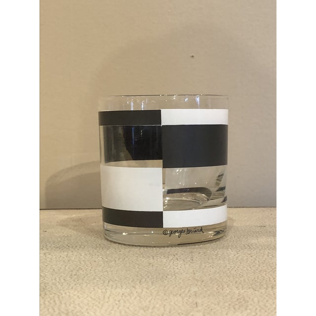 1970s Georges Briard Black & White Cocktail Glasses- Set of 12 For Sale - Image 5 of 7
