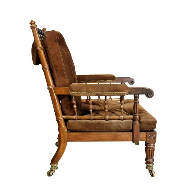 Brown George IV Rosewood Bergere Chair by Gillows For Sale - Image 8 of 12