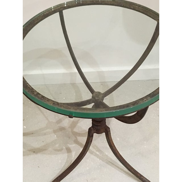20th Century Shabby Chic Iron Accent Tables - a Pair For Sale - Image 9 of 10