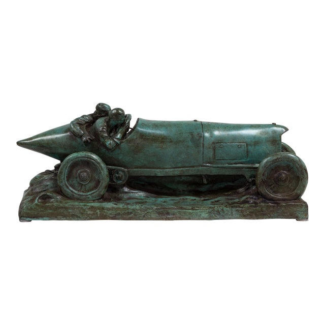 A Bronze Cast of a Mercedes Blitzen Benz by Talisman For Sale