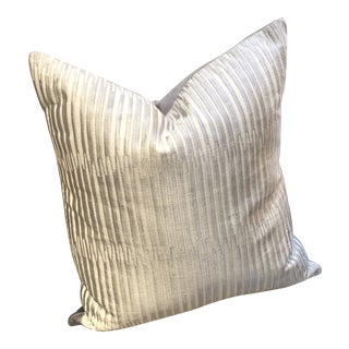 """Isadora Steel 22"""" Square Pillow from Kenneth Ludwig Chicago For Sale"""