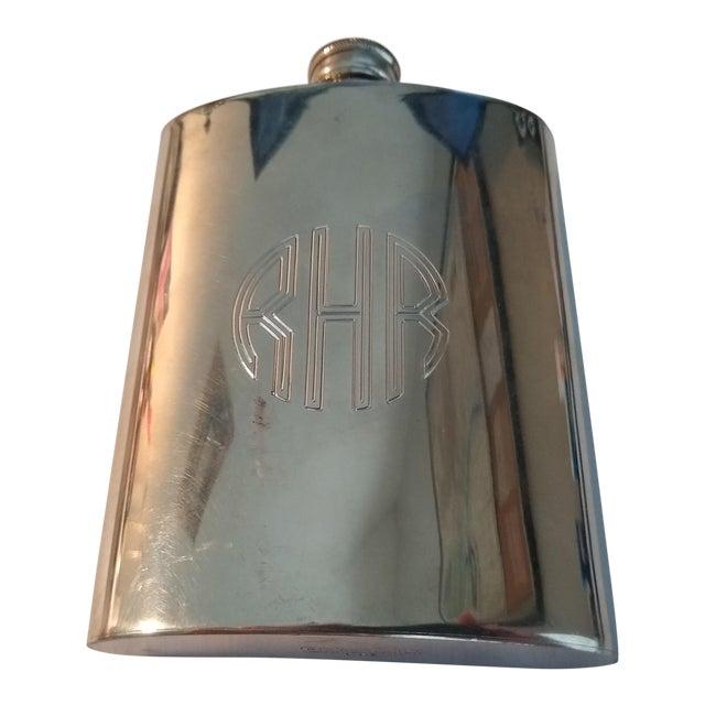 Vintage English Pewter Flask For Sale