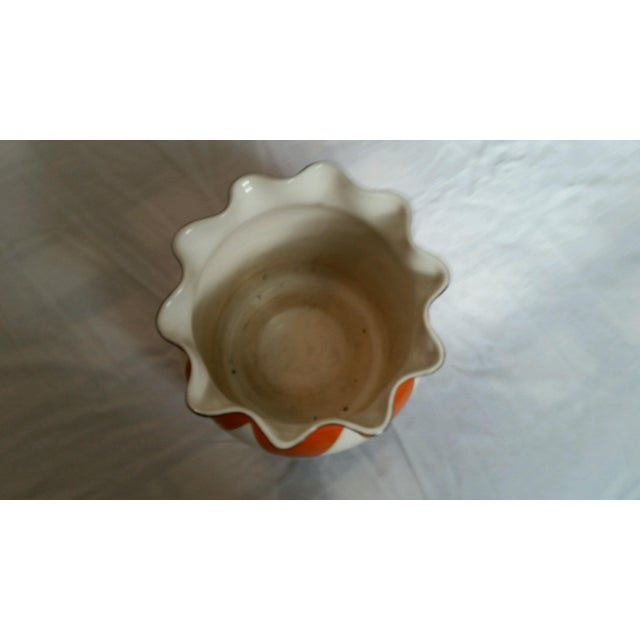 Vintage Scalloped Painted Bowl - Image 4 of 5