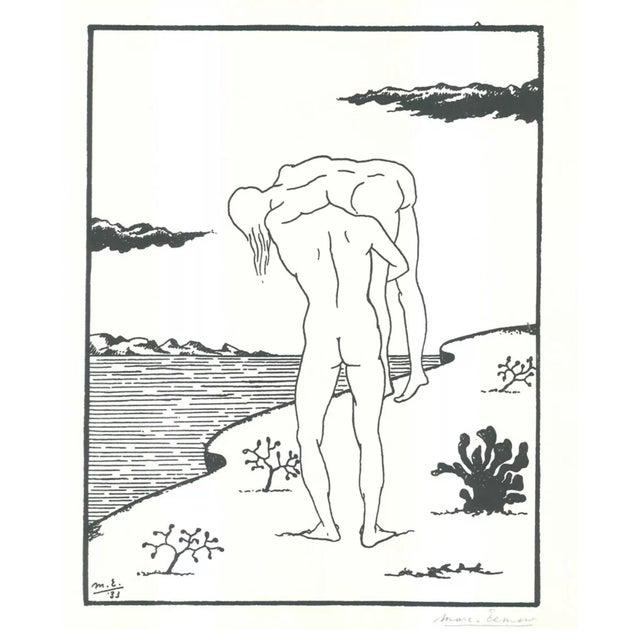 Marc Eemans Lithograph, Bathing 1976 For Sale