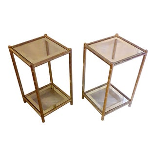 Mid 20th Century Maison Lancel Sides Tables - a Pair For Sale