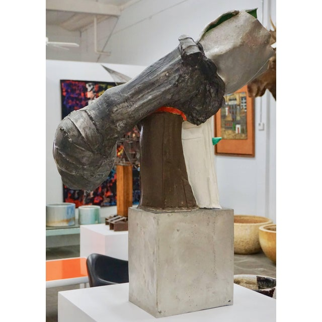 Large-scale abstract sculpture, painted, signed and dated RT '65.Together with original gallery receipt.