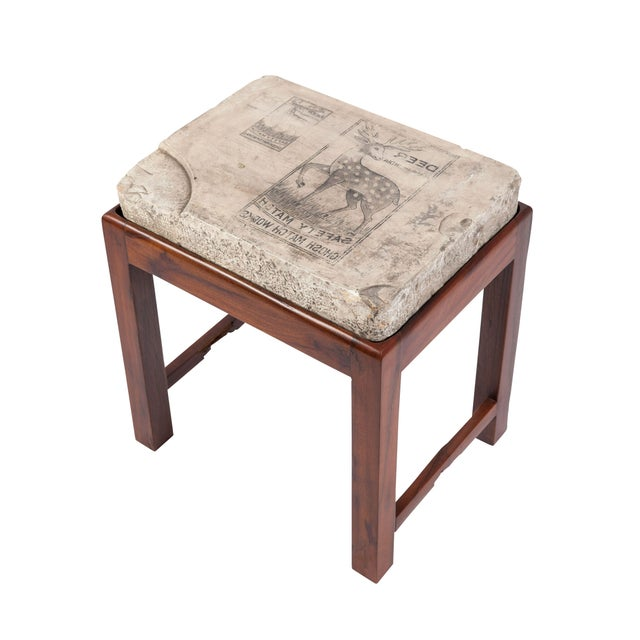 Indian Lithographed Stone Table II - Image 1 of 6