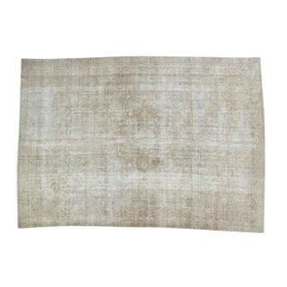 """Vintage Distressed Kashan Carpet - 8' X 11'2"""" For Sale"""