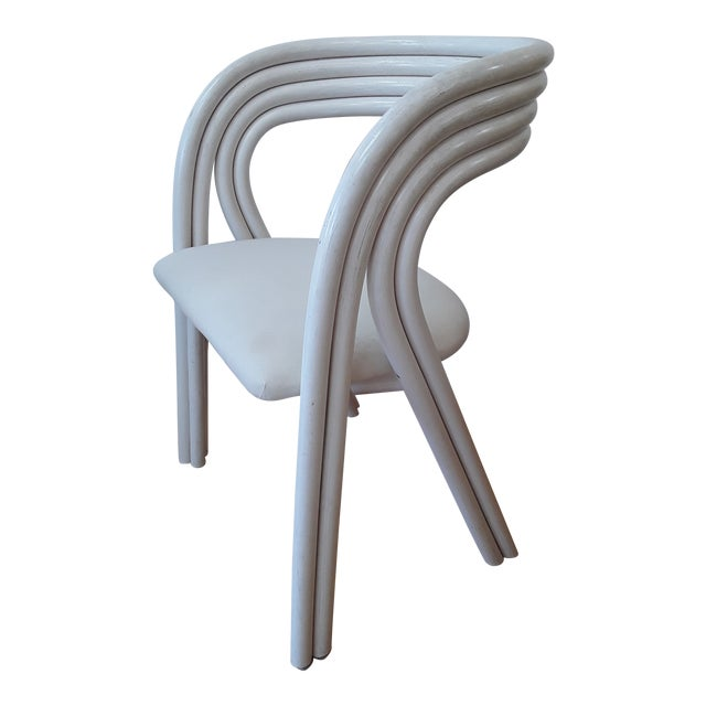 Set of 4 white painted Dutch bentwood armchairs by Jan des Bouvrie for Rohé Noordwolde.