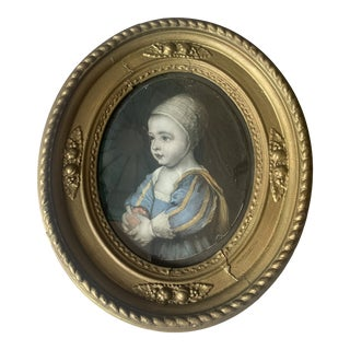 1940s Portrait Print of a Child, Framed For Sale