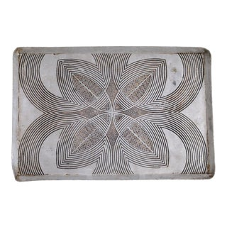 Carved English Metal Tray