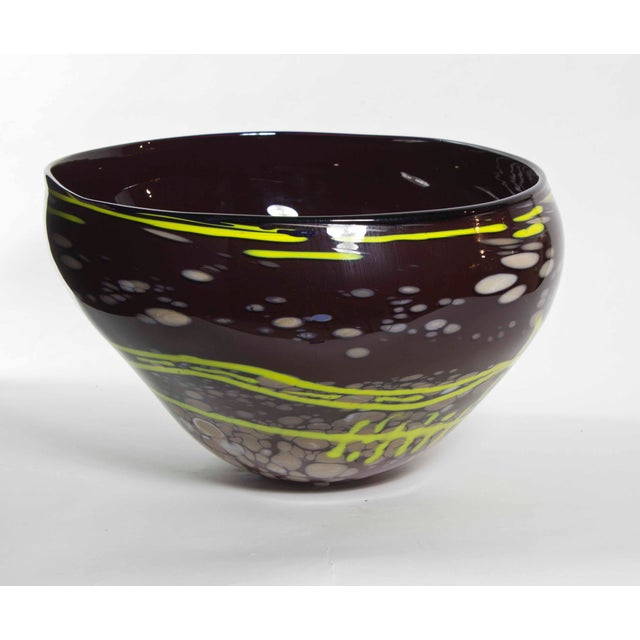 Contemporary Tony Jojola Art Glass Bowl For Sale - Image 3 of 4