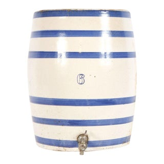Striped Ceramic Crock For Sale