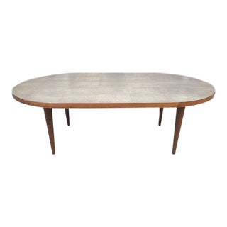 Gray Shagreen Coffee Table / Cone Shape Legs For Sale