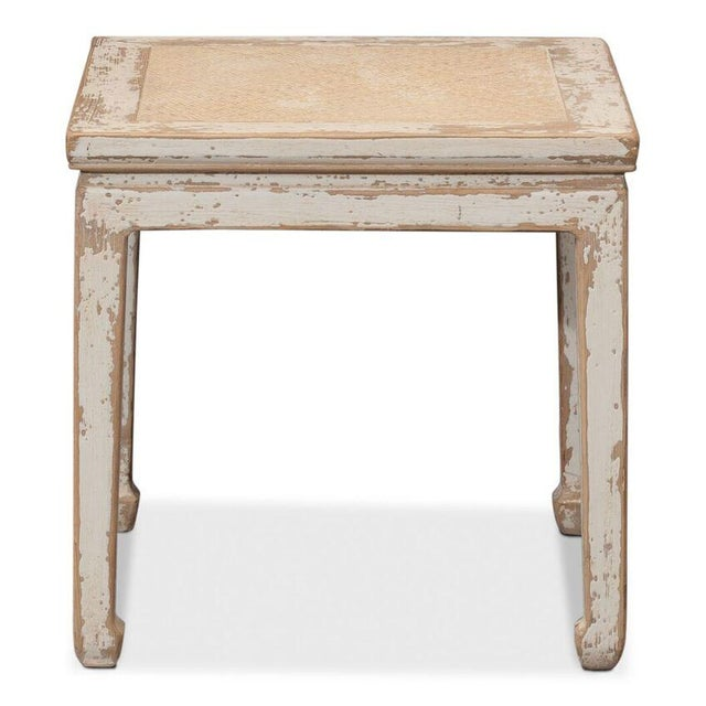 Sarreid Ltd Square Rattan Stool - Image 3 of 6