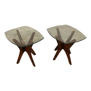 Adrian Pearsall Mid-Century Modern Sculpted Jacks Side Table ~ - a Pair For Sale