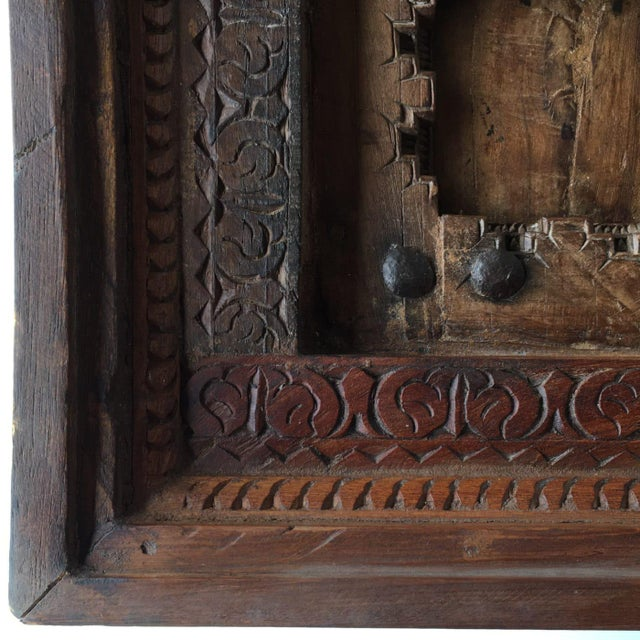 Wood Antique Ottoman Door Coffee Table For Sale - Image 7 of 8