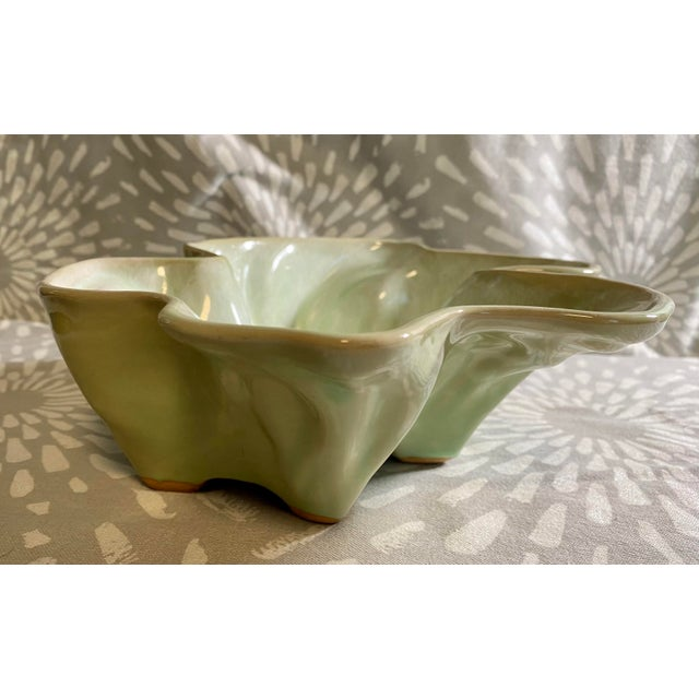 Vintage Hammat Mid-Century Pastel Green Glazed Pottery For Sale - Image 4 of 9