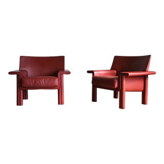 Afra & Tobia Scarpa Lounge Chairs - a Pair For Sale