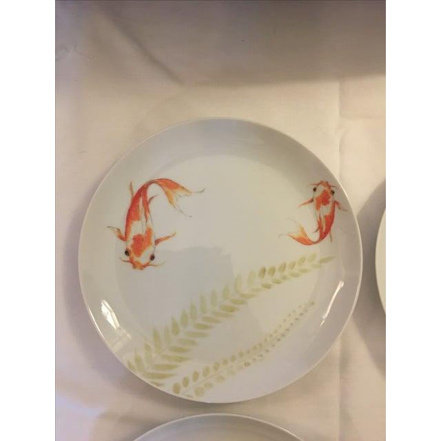 Decorative Koi Fish Plates - Set of 4 - Image 3 of 7
