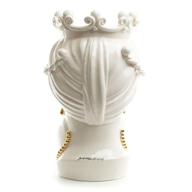 24 Karat Gold Sicilian Gigante Head, Schittone Modern Moro For Sale - Image 4 of 10