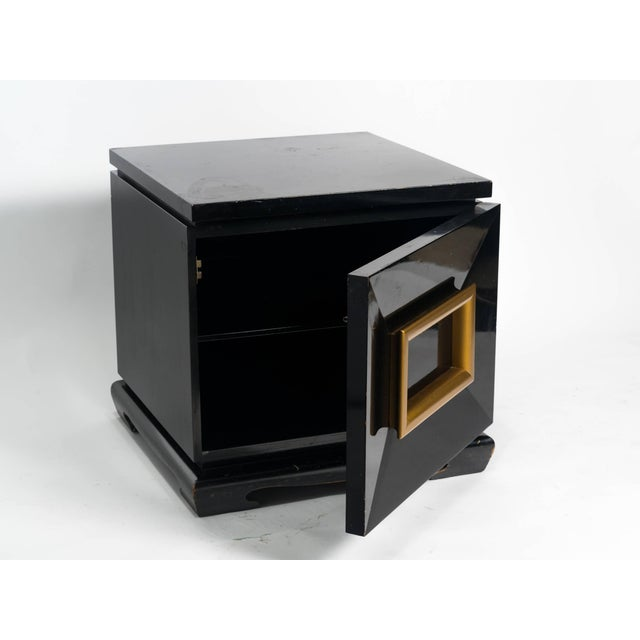 Pair of James Mont Style Chunky End Tables For Sale In New York - Image 6 of 7