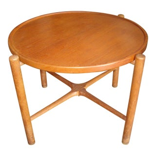 Hans Wegner Rare Coffee/Cocktail Table With Folding Legs Branded Andreas Tuck For Sale