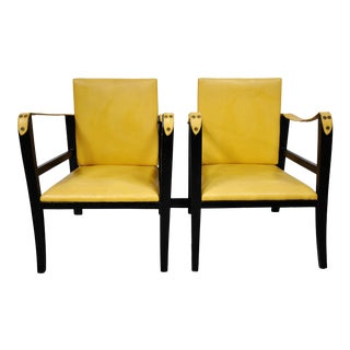 Pair of Campaign-Style Safari Chairs For Sale