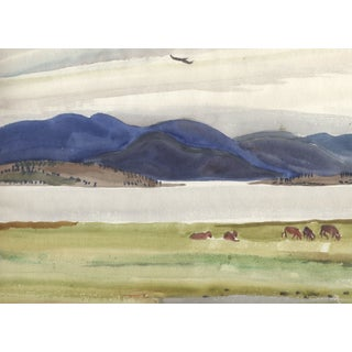Helen Forbes Vintage Landscape Watercolor