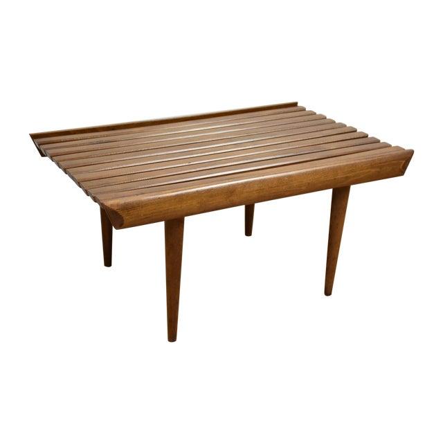 Mid-Century Modern Slatted Bench - Image 1 of 7