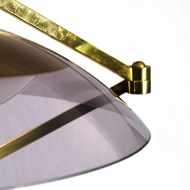 1960s 1960´s Standing Lamp by Stilux, marble, steel. brass, perspex lampshade - Italy For Sale - Image 5 of 9