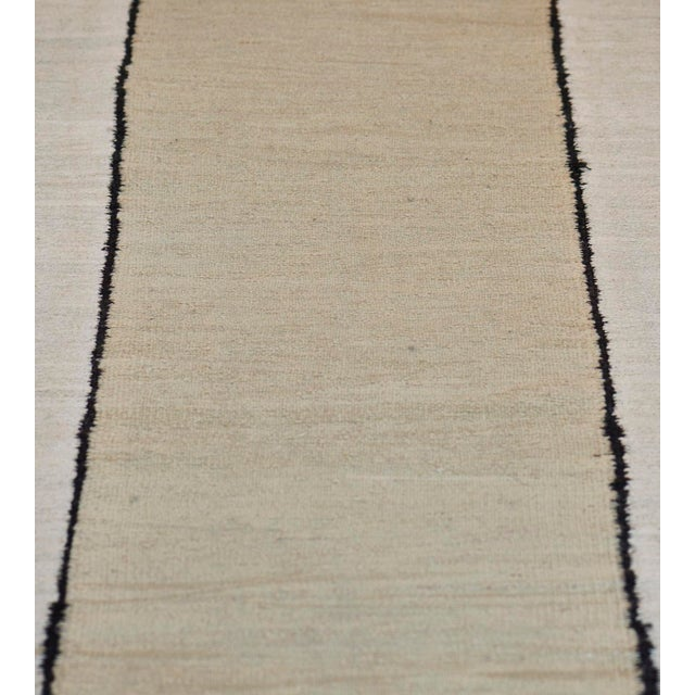 Textile 1930s Handwoven Wool Vertical Striped Deco Rug For Sale - Image 7 of 8