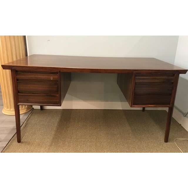 Mid-Century Modern Danish Rosewood Desk Writing Table For Sale - Image 10 of 10