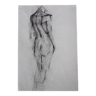 Vintage Nude Back Facing Drawing Pencil / Graphite #4 Artist Julianne Darrow Humar (1926-2018) For Sale