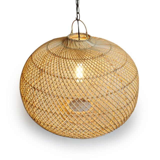 Contemporary Rattan Donut Lantern For Sale - Image 3 of 6
