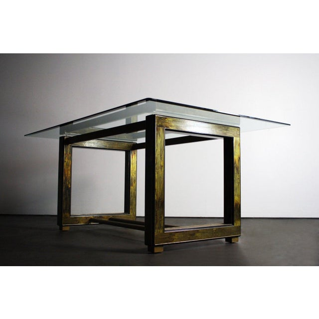 Bernhard Rohne for Mastercraft Acid-Etched Brass Table For Sale In Orlando - Image 6 of 6