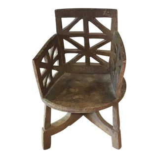 Vintage Ethiopian Coptic Chair For Sale