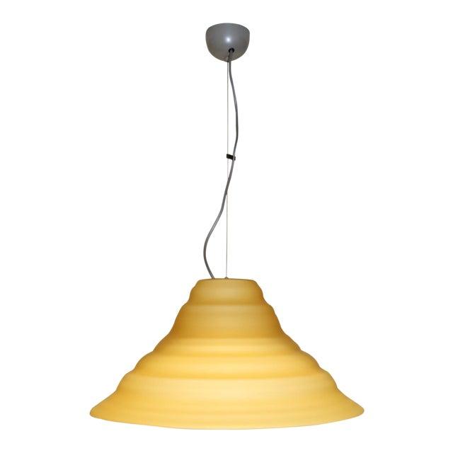 """Incamiciato"" Amber Murano Glass Mid-Century Modern Pendant Light For Sale"